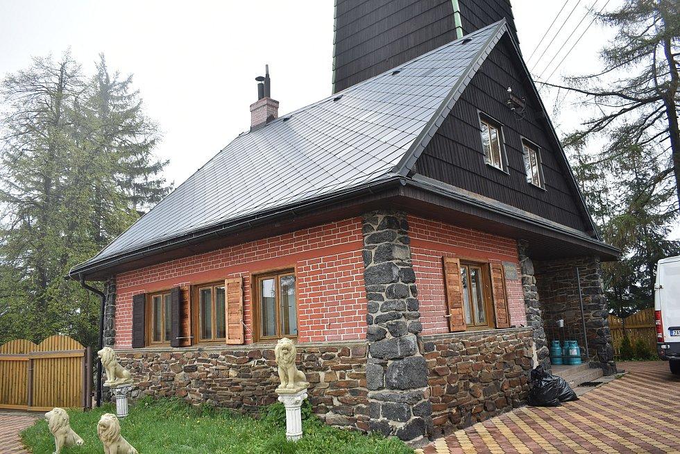 Rozhledna Lázek v Zábřežské vrchovině- Reichlova chata.