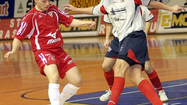 Futsalisté šumperské Delty v útoku. Ilustrační foto.
