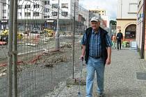 Stále pokračuje rekonstrukce náměstí v Jeseníku