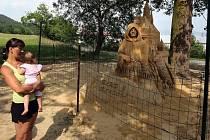Obří hrad z písku vyrostl v osadě Bludoveček.