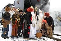 Do Šumperku přijel speciální Mikulášský vlak.