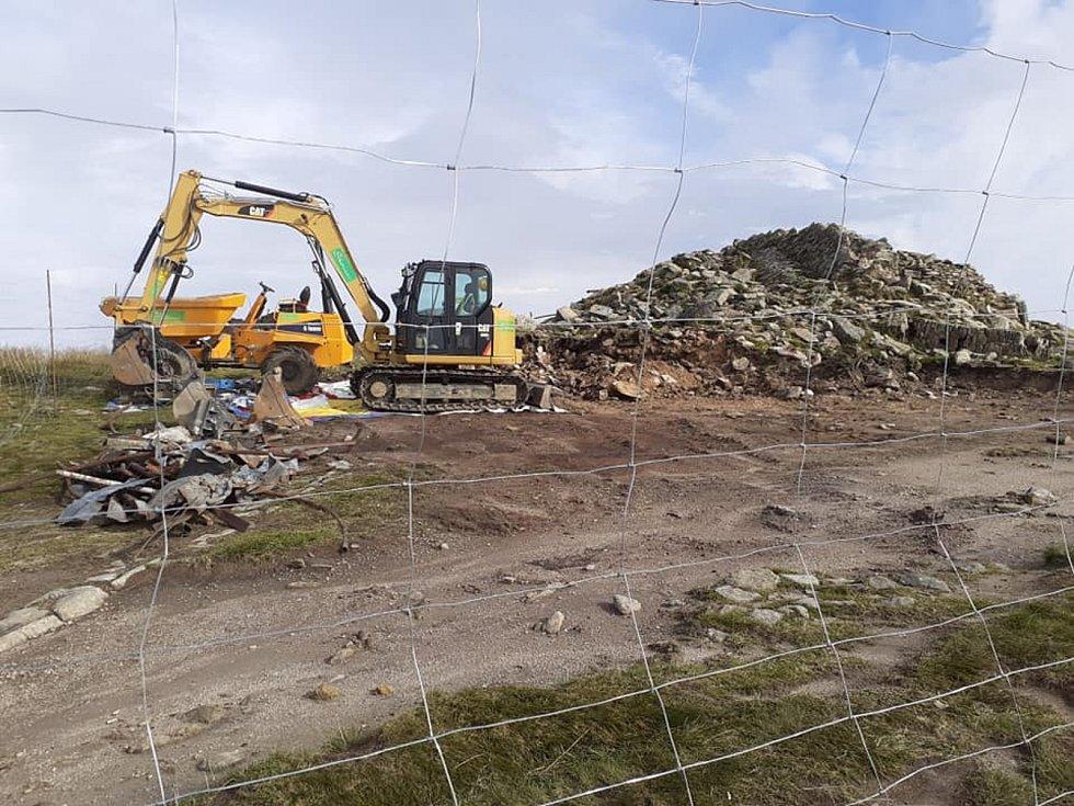 Výstavba rozhledny na Králickém Sněžníku 23.srpna 2020