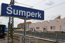 Bourání skladiště u železniční stanice Šumperk