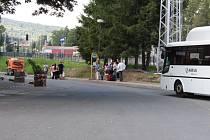 Autobusová zastávka před nádražím v Jeseníku dostane důstojnou podobu.