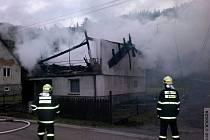 Požár okálu v Hanušovicích