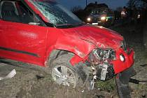 Řidič havaroval mezi obcemi Bludov a Olšany.