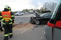 Policisté hledají svědky nehody autobusu s osobním autem, která se stala ve čtvrtek 28. dubna kolem šestnácté hodiny na okraji Zábřehu.