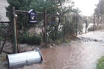 Následky bouřky v úterý 26. června v Javorníku.