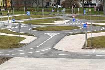 Dopravní hřiště v Zábřehu.