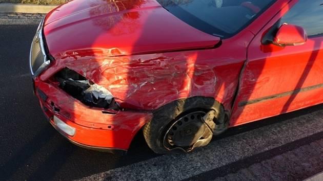 Nehoda na jesenickém obchvatu.