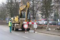 Rekonstrukce kanalizace uzavřela Temenickou ulici v Šumperku.