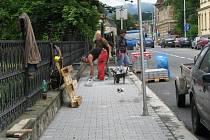 V Jeremenkově ulici bude nový chodník.
