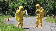 Likvidace formaldehydu unikajícího po dopravní nehodě u Vlaského na Hanušovicku