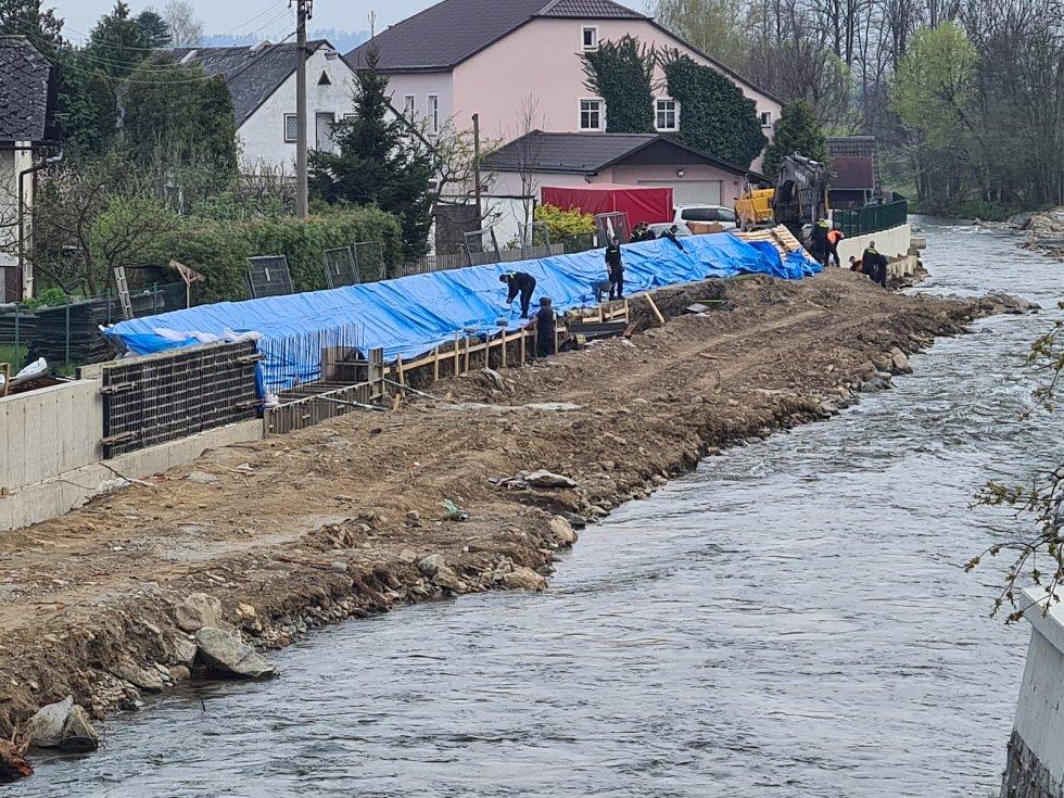 Preventivní protipovodňová opatření ve Vikýřovicích u Šumperku