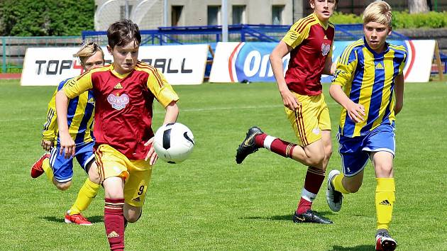 Fotbalový turnaj mládeže Ondrášovka Cup v Šumperku.