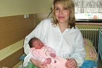Nela Prášilová, první narozené dítě letošního roku v Jeseníku