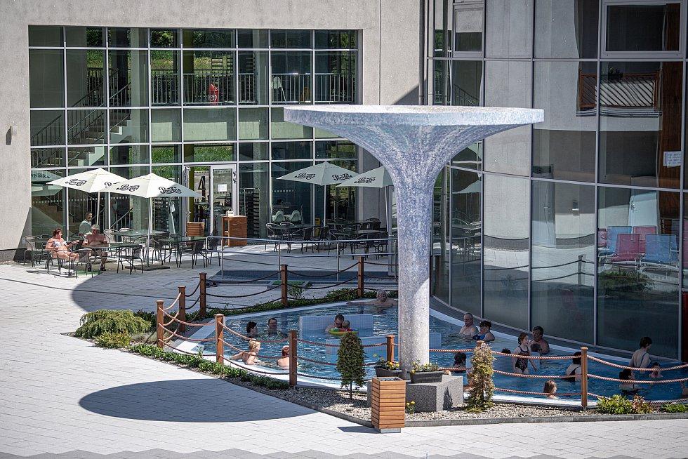 Termální park ve Velkých Losinách, 4. června 2021.