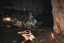 Dopravní nehoda v Lipové lázních.