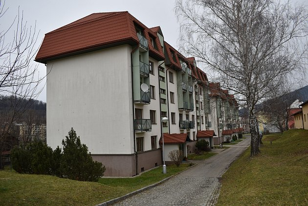 Bytové domy vulici UKasáren vJeseníku.