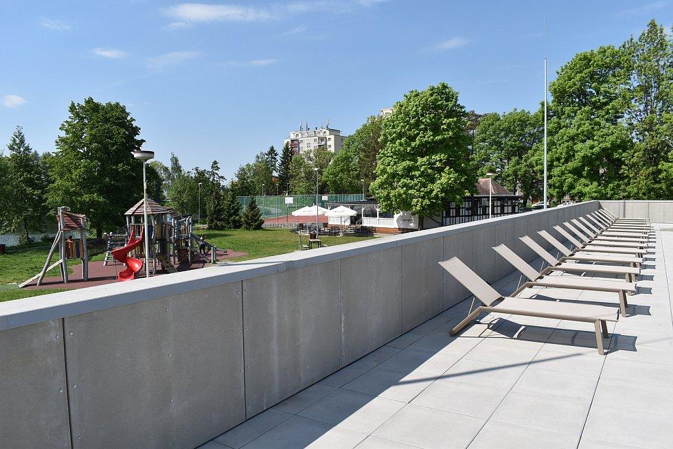 Aquacentrum Šumperk krátce po otevření ve středu 2. června.