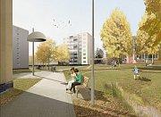 Vizualizace revitalizace sídliště Severovýchod v Zábřehu
