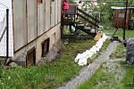 Jesenicko. Hasiči zasahují po vydatném dešti 22. 5. 2019