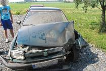 Mladý řidič havaroval v neděli ráno v Postřelmově