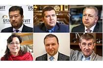 Vrcholoví politici, kteří v posledním měsíci navštívili nebo navštíví Šumpersko a Jesenicko.