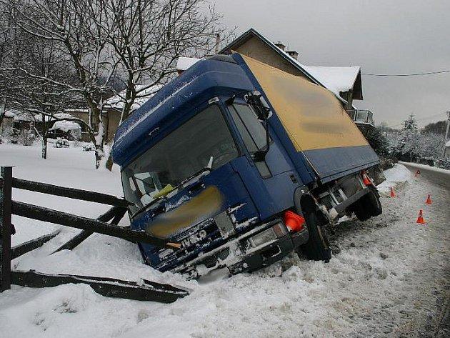Nehoda kamionu u Mikulovic