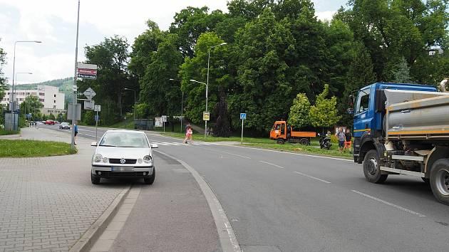 Střet se srnou v centru Šumperka