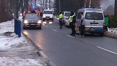 Místo smrtelné nehody v Pražské ulici v Hanušovicích.