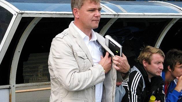 Trenér Zábřehu Jiří Balcárek