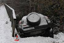 Středeční dopravní nehody na silnici mezi Kopřivnou a Hanušovicemi