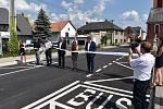 Zrekonstruovaná silnice v Sudkově. Slavnostní otevření.
