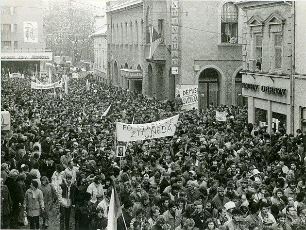 Listopad roku 1989 v Šumperku