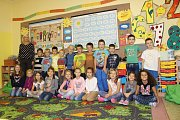 """Třída 1. A Základní školy """"Jednička"""" Dr. E. Beneše v Šumperku s třídní učitelkou Martinou Lokšíkovou, 23 dětí"""