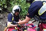 Ve čtvrtek 20. července zasahovala horská služby v údolí Bílé Opavy. transportovala zraněného muže.