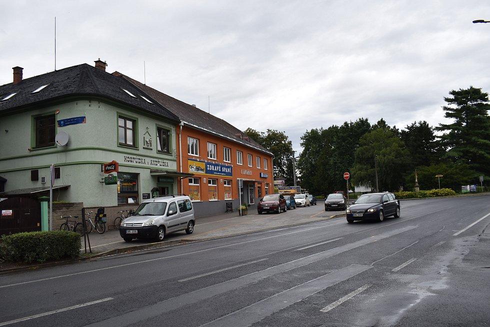 Postřelmov - centrum obce.