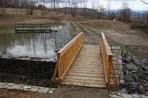 Vodní nádrž Tulinka u Rapotína.