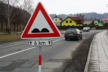 Silnice v Hanušovicích. Ilustrační foto.