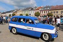 Sraz historických vozidel v sobotu 13. května v Zábřehu.
