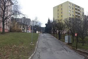 Pohled na ulici Seiferova v Jeseníku.