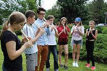 Ukrajinské děti na ozdravném pobytu ve Václavově u Oskavy na Šumpersku