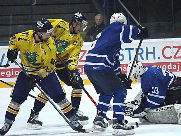 Draci (žluté dresy) porazili v prodloužení Nový Jičín.