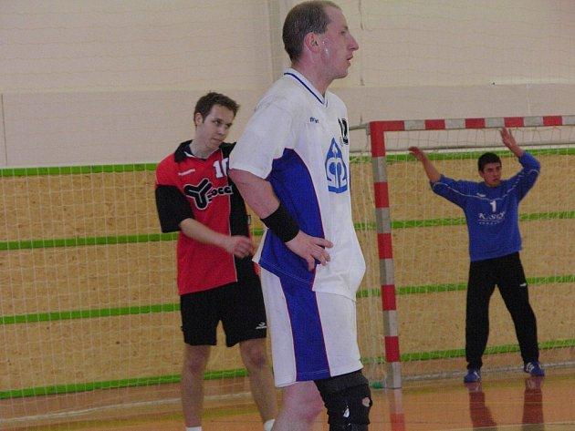 Petr Korec byl nejlepším střelcem Šumperku v Droždíně.
