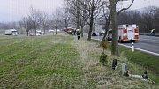 Nehoda na Bludovském kopci ve čtvrtek 23. března.