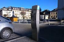 Parkovací automat na jesenickém náměstí