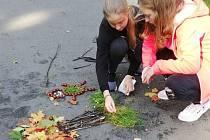 Land-art na ZŠ Jesenická v Bruntále.