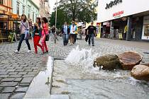 Šumperská pěší zóna.