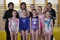 Šumperské gymnastky v Ostravě